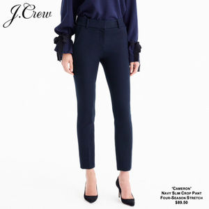 J.Crew - 'Cameron' Slim Crop Pant (NAVY)